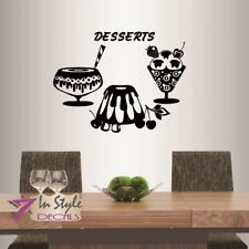 Vinyl Decal Dessert Cupcakes Ice Cream Sweets Cafe Kitchen Wall Sticker 577