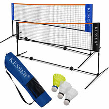 KESSER® Badmintonnetz Set Tennisnetz Federballnetz 3x Federball Transporttasche