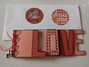 Mini Album / word book/ card, Valentine's Day, Love, card making, gift, crafts