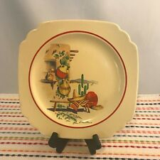 Vintage Hacienda Lunch Plate Century Riviera Ivory Homer Laughlin 9 in Stamped