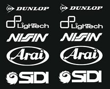 Arai Dunlop Sidi Motorsport Stickers Sponsors Course Ensemble pour