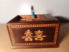 Boite ancienne japonaise automate bois distributeur cigarette Japon tabatière