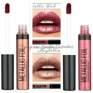 Maybelline Metallic Foil  Liquid Lip Colour  NEW   SEALED   + FREE POST