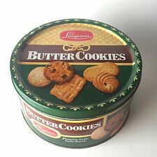 Scatola in latta tonda LAZZARONI BUTTER COOKIES Vintage