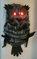 Lighted Owl Scary Hanging Halloween Party Prop 18""