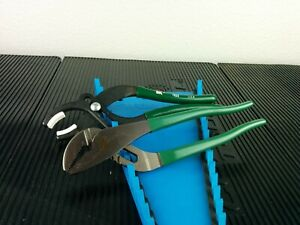 #af909  NEW!!  SK TOOLS 7625 Soft Jaw Cannon Plug,Green + 7510 Groove Pliers