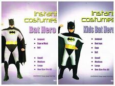 Batman Hero Bat Hero Super Hero Costume Adult & Kid Outfit Fancy Dress Up Party