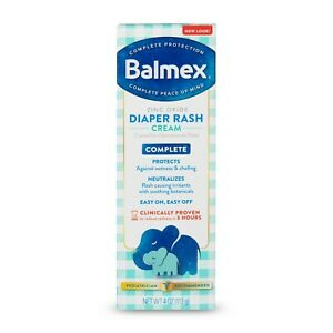 Balmex Complete Protection Baby Diaper Rash Cream, 4 oz..