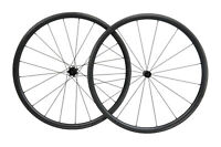 700C Carbon Road Bike Wheelset Black Matte 23mm 30mm deep clincher Black Matt