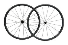 23 Wide 30mm Black Matt Carbon Clincher Wheelset 700C Road Bike Bend J Hub