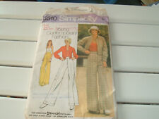 Vintage 70s Simplicity pattern 5510 wide trousers, halter neck & blouson jacket