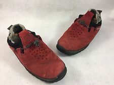 Women's Timberland Smartwool Lounger Red Suede Shoes, Size 6.5
