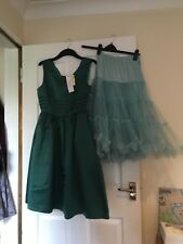 Lindy Bop Satin look Swing Dress Vintage Retro BNWT Petticoat sold seperately