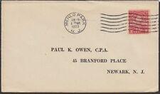 1929 Electric Lights Golden Jubilee 2c Stamp Sc654 Menlo Park Cancel