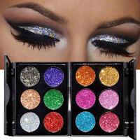 6Colors Lasting Shimmer Glitter Eye Shadow Powder Palette Make-Up Eyeshadow Tool