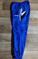 Adidas 90's Vintage Tracksuit Nylon Pants Trousers Training Blue Hype Shiny
