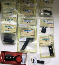 Boston Leather Lot 14 Firefighter Tactical Leather Loop Glove Mic Strap Misc New