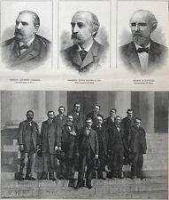 The Trial Of Charles Jules Guiteau.  Wood Engraving, 1881.