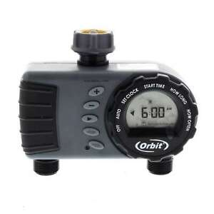 Orbit Tap Timer 1 Dial 2 Outlet Automatic Controller Garden Irrigation Watering