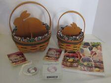 Longaberger 1999 Small & Large Easter Basket Combos Tie On Flyer Spring