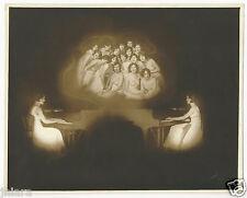RARE WHITE STUDIOS ZIEGFELD FOLLIES FLAPPERS PIANO 10X13 SILVER GELTIN PHOTO