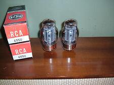 6550 Tubes RCA Tung-Sol matched pair 3 nib