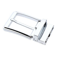 Reversible Metal Belt Buckle Single Prong Rectangle Replacement Silver
