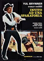 Poster Einladung Derartige ein Waffe Kampf Yul Brynner Stanley Kramer Rule H13