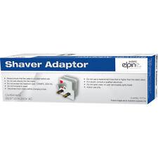 3 x Shaver Plug Adaptor 2 Pin to 3 Pin Bathroom Electric Shaving Toothbrush 1A
