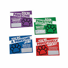 Paw Print Scratch Reward Cards - Stationery - 48 Pieces