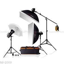 1200W Bowens Fit Studio Strobe Flash Lighting Kit fashion Portrait Nude 3-Points