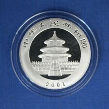 2001 China 1oz Silver Panda 10 Yuan coin in Capsule with COA