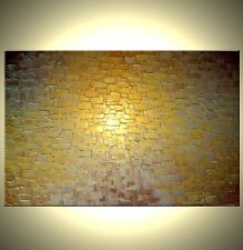 ORIGINAL Gold ABSTRACT Textured Palette Knife Painting