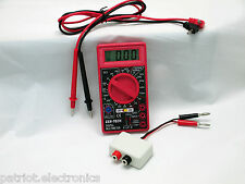 Digital Voltage Meter & DVA Peak Reading Adapter Combo Tool - Marine Boat ATV