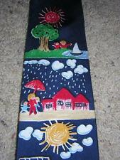 """SAVE THE CHILDREN """"Mary Age 9 - That's What Friends are For"""" Men's 100% Silk Tie"""