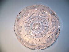 GORGEOUS LEAD CRYSTAL PLATTER NO MARKINGS  4.6 lbs.