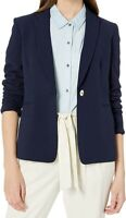 Tahari by ASL Women's Blazer Blue Size 4 One-Button Textured Notched $129 #134