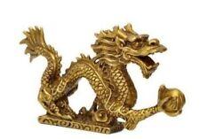 Chinese Brass Dragon Figurine Statue Decoration