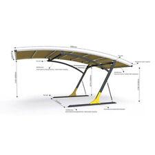 Cantilever Carport - Single Bay Carport CPS - DIY - Heavy Duty Steel Frame