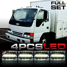 4x LED Upgrade Headlights Sealed Beam For GMC Chevy W4500 W5500