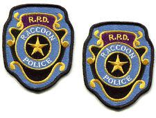 RESIDENT EVIL ZOMBIE OUTBREAK SURVIVOR RACCOON CITY POLICE RPD vel©®😎 PATCH X 2