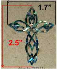 PH28# Tribal Cross Inlay in Paua Abalone 1.5mm thickness