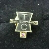 Vintage TANDY CORP Radio Shack 10K Gold Ruby Jewel Service Pin Award
