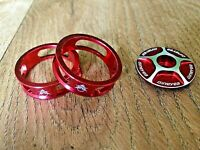"""NOS EPOCH MORI Old School BMX 1/"""" Headset Red Black Gold Blue NEW OLD STOCK 32.7"""