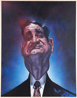 Sebastian KRUGER Original Art – PAT BUCHANAN Painting – 1990 Acrylic/Board Large