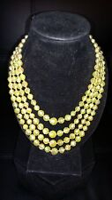 Costume Jewelry Necklace Irridescent Yellow Beaded