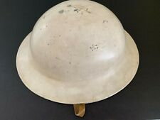Vintage/Antique B.F. McDonald Los Angeles White Steel Construction Hard Hat USA