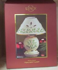 New Lenox China Holiday Tealight Lamp With Holly & Berries Gift - Christmas