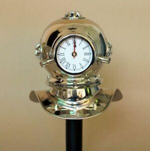 Vintage Antique Divers Diving Clock with chrome Finish Collectable Desk Decor