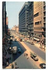 North on State Street Chicago Illinois 1956 postcard